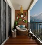 阳台植物墙和沙发组合3D模型下载-[ID]26895