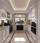 美式实木厨房橱柜3D模型下载-[ID]42423