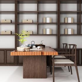 中式书桌23d模型
