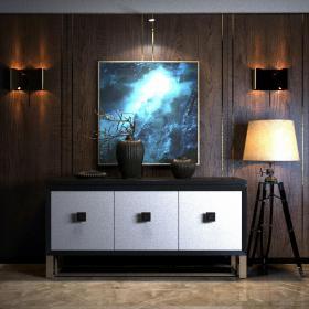 美式地中海柜子沙发组合3d模型