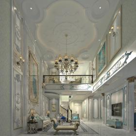 现代别墅大厅113d模型