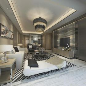 新中式时尚和古韵并存的客厅33d模型