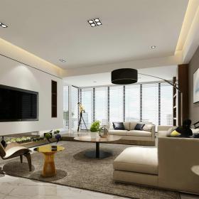 中式深色简约客厅3d模型