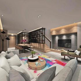 现代简洁大气有格调的客厅303d模型