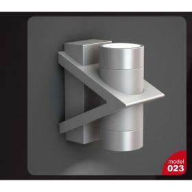 现代金属灰黑圆柱形壁灯3d模型