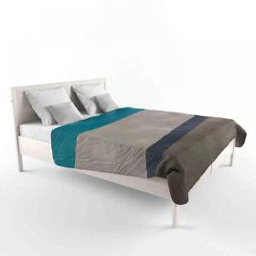 田园风格卧室双人床3d模型