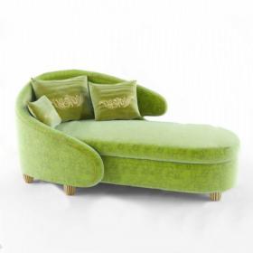 loft餐边柜懒人沙发组合3d模型