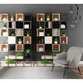 现代装饰柜架休闲椅组合3d模型