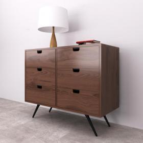 现代边柜斗柜装饰画组合3d模型