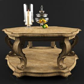 黄色桌台3d模型
