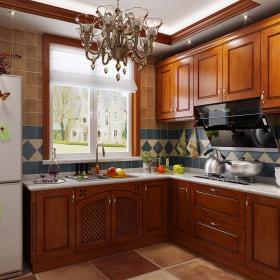 法式蓝色描金厨房橱柜3d模型