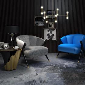 西式古典沙发桌椅3d模型