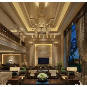 欧式别墅大厅13d模型