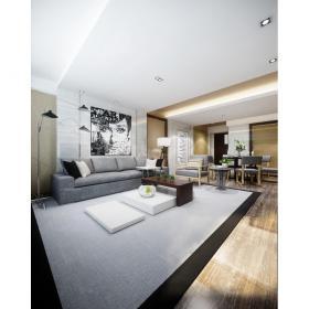 现代简洁大气有格调的客厅3d模型
