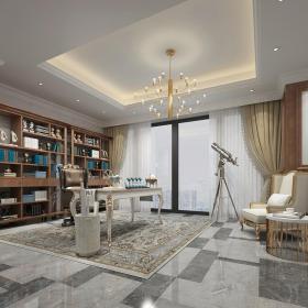 欧式温馨舒适书房 (4)3d模型