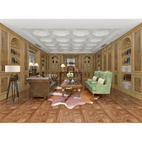 现代温馨舒适的书房 (3)3d模型