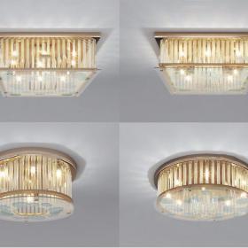 现代吸顶水晶灯3d模型
