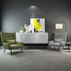 现代单椅边柜新中式3d模型