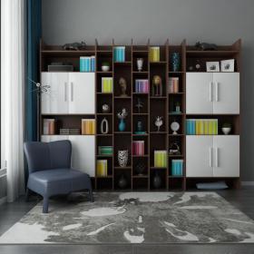 美式风格书柜3d模型