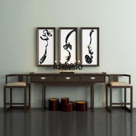 新中式柜子沙发组合3d模型